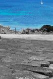 Εκλεκτικός αποκορεσμός στην ακτή Tharros Στοκ φωτογραφίες με δικαίωμα ελεύθερης χρήσης