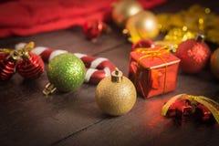Εκλεκτικό υπόβαθρο Χριστουγέννων εστίασης Στοκ Φωτογραφία