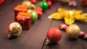 Εκλεκτικό υπόβαθρο Χριστουγέννων εστίασης Στοκ εικόνες με δικαίωμα ελεύθερης χρήσης
