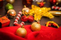 Εκλεκτικό υπόβαθρο Χριστουγέννων εστίασης Στοκ Εικόνα