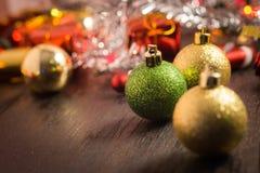 Εκλεκτικό υπόβαθρο Χριστουγέννων εστίασης Στοκ Εικόνες