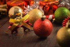 Εκλεκτικό υπόβαθρο Χριστουγέννων εστίασης Στοκ εικόνα με δικαίωμα ελεύθερης χρήσης