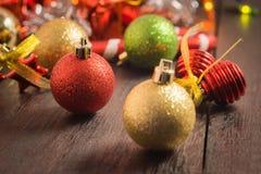 Εκλεκτικό υπόβαθρο Χριστουγέννων εστίασης Στοκ Φωτογραφίες