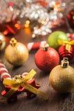 Εκλεκτικό υπόβαθρο Χριστουγέννων εστίασης Στοκ φωτογραφίες με δικαίωμα ελεύθερης χρήσης