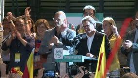 Εκλογές για την ανεξαρτησία της Καταλωνίας απόθεμα βίντεο