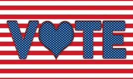 Εκλογές - σημάδι ψηφοφορίας - καρδιά αντί «του Ο» Στοκ φωτογραφία με δικαίωμα ελεύθερης χρήσης