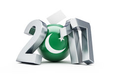 Εκλογές στο Πακιστάν 2017 τρισδιάστατες απεικονίσεις Στοκ Φωτογραφία