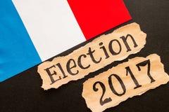 Εκλογή 2017, επιγραφή στο σχισμένο φύλλο εγγράφου στοκ φωτογραφία με δικαίωμα ελεύθερης χρήσης