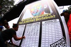 Εκλογή κυβερνητών της Τζακάρτα στοκ φωτογραφίες