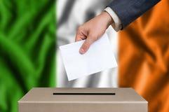Εκλογή στην Ιρλανδία - που ψηφίζει στο κάλπη Στοκ Εικόνες
