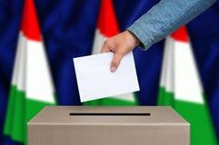 Εκλογή στην Ουγγαρία - που ψηφίζει στο κάλπη στοκ φωτογραφίες
