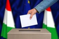 Εκλογή στην Ουγγαρία - που ψηφίζει στο κάλπη στοκ φωτογραφία με δικαίωμα ελεύθερης χρήσης