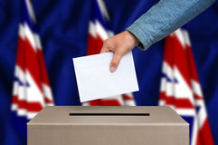 Εκλογή στη Μεγάλη Βρετανία - που ψηφίζει στο κάλπη στοκ φωτογραφία με δικαίωμα ελεύθερης χρήσης