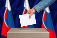 Εκλογή στη Σλοβακία - που ψηφίζει στο κάλπη στοκ φωτογραφία με δικαίωμα ελεύθερης χρήσης