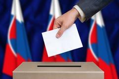 Εκλογή στη Σλοβακία - που ψηφίζει στο κάλπη στοκ φωτογραφίες