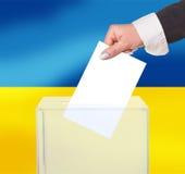 Εκλογική ψηφοφορία από την ψήφο στοκ εικόνες με δικαίωμα ελεύθερης χρήσης