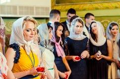 Εκδοτικό ρεπορτάζ τελευταίο κουδουνιών γυμνάσιο 14 30 βαθμού Lutsk 11ο 05 15 Στοκ Εικόνα