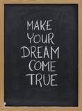 ελάτε όνειρο κάνει αληθι& Στοκ εικόνα με δικαίωμα ελεύθερης χρήσης