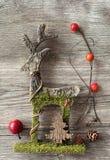 ελάφια Χριστουγέννων ξύλι Στοκ Φωτογραφία