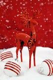 Ελάφια Χριστουγέννων Στοκ Εικόνα