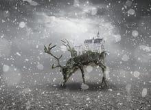 Ελάφια Castle φαντασίας Στοκ φωτογραφίες με δικαίωμα ελεύθερης χρήσης