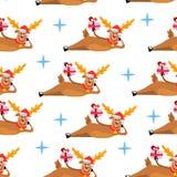 ελάφια pattern3 Στοκ Φωτογραφίες