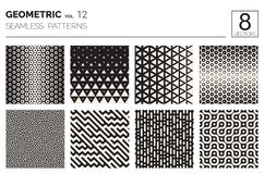 Ελάχιστα γεωμετρικά άνευ ραφής σχέδια καθορισμένα Στοκ φωτογραφία με δικαίωμα ελεύθερης χρήσης