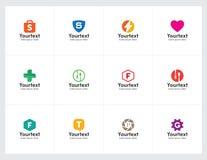 Ελάχιστη και καθαρή συλλογή λογότυπων για την επιχείρηση Στοκ φωτογραφία με δικαίωμα ελεύθερης χρήσης