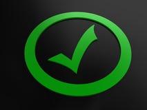 ελέγξτε πράσινο Στοκ Εικόνες