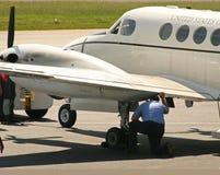 ελέγξτε πριν από την πτήση Στοκ φωτογραφίες με δικαίωμα ελεύθερης χρήσης