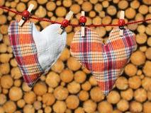 ελέγξτε την αγάπη καρδιών π&omi Στοκ φωτογραφίες με δικαίωμα ελεύθερης χρήσης