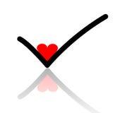 ελέγξτε την αγάπη Στοκ εικόνες με δικαίωμα ελεύθερης χρήσης
