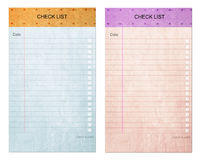 ελέγξτε το παλαιό έγγραφο μαξιλαριών σημειώσεων καταλόγων μορφής κολλώδες Στοκ Εικόνες
