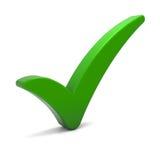 ελέγξτε το πράσινο σημάδι Στοκ Εικόνα