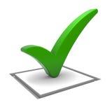 ελέγξτε το πράσινο σημάδι Απεικόνιση αποθεμάτων