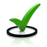 ελέγξτε το πράσινο σημάδι Ελεύθερη απεικόνιση δικαιώματος