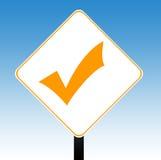 ελέγξτε το σημάδι σημαδιών ελεύθερη απεικόνιση δικαιώματος