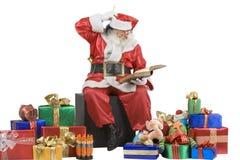 ελέγχοντας Claus το santa πορτρέτ&omic Στοκ εικόνα με δικαίωμα ελεύθερης χρήσης