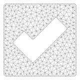 Ελέγχου Polygonal απεικόνιση πλέγματος πλαισίων διανυσματική ελεύθερη απεικόνιση δικαιώματος