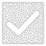 Ελέγχου Polygonal απεικόνιση πλέγματος πλαισίων διανυσματική διανυσματική απεικόνιση