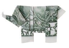 ελέφαντας ένα δολαρίων origami Στοκ Εικόνες