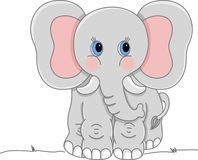 ελέφαντας γκρίζος διανυσματική απεικόνιση