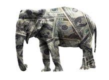 ελέφαντας δολαρίων Στοκ εικόνα με δικαίωμα ελεύθερης χρήσης