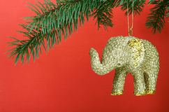 ελέφαντας Χριστουγέννων Στοκ φωτογραφία με δικαίωμα ελεύθερης χρήσης