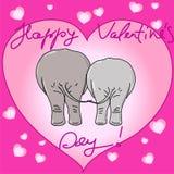 Ελέφαντες βαλεντίνου ελεύθερη απεικόνιση δικαιώματος