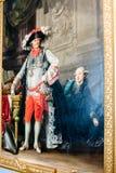 Ελαιογραφία ενός αριστοκράτη με τη σύζυγό του στοκ εικόνες