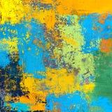 Ελαιογραφία στον καμβά χειροποίητο Αφηρημένη σύσταση τέχνης ζωηρόχρωμη σύσταση σύγχρονο έργο τέχνης Κτυπήματα του παχιού χρώματος ελεύθερη απεικόνιση δικαιώματος