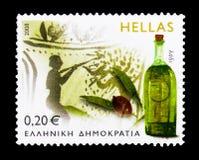Ελαιόλαδο, παραδοσιακά ελληνικά προϊόντα serie, circa 2008 Στοκ φωτογραφία με δικαίωμα ελεύθερης χρήσης