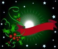 ελαιόπρινος Χριστουγέννων εμβλημάτων Στοκ φωτογραφία με δικαίωμα ελεύθερης χρήσης