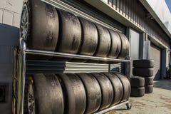 Ελαστικά αυτοκινήτου Racecar Στοκ Εικόνα